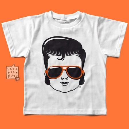 Camiseta Infantil Let's Rock Baby Elvis Baby