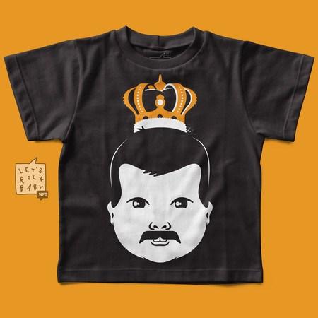 Camiseta Infantil Let's Rock Baby Freddie Mercury Baby