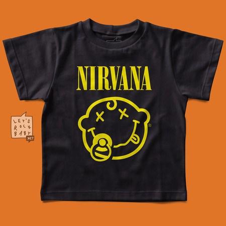 Camiseta Infantil Let's Rock Baby Nirvana Chupeta