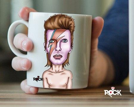 Caneca Exclusiva Mitos do Rock David Bowie