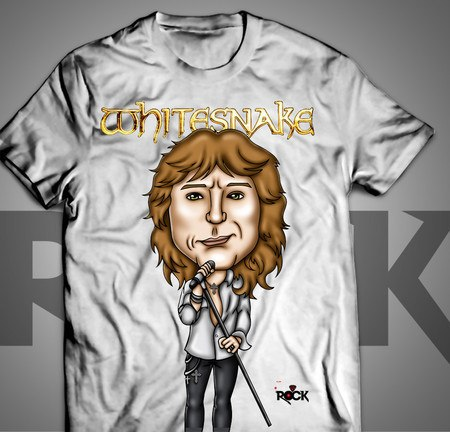 Camiseta Exclusiva Mitos do Rock David Coverdale Whitesnake