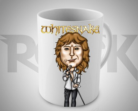 Caneca Exclusiva Mitos do Rock David Coverdale Whitesnake