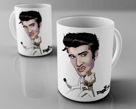 Caneca Exclusiva Mitos do Rock Elvis Presley