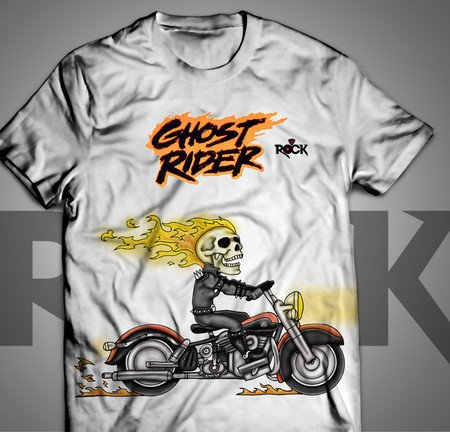 Camiseta Exclusiva Mitos do Rock Ghost Rider