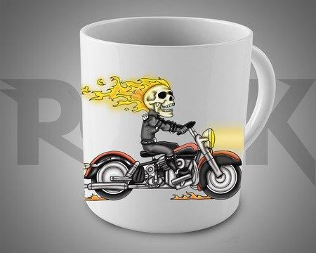 Caneca Exclusiva Mitos do Rock Ghost Rider Motoqueiro Fantasma