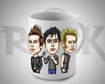 Caneca Exclusiva Mitos do Rock Green Day
