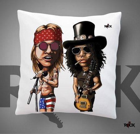 Almofadas com Enchimento Mitos do Rock Guns n Roses