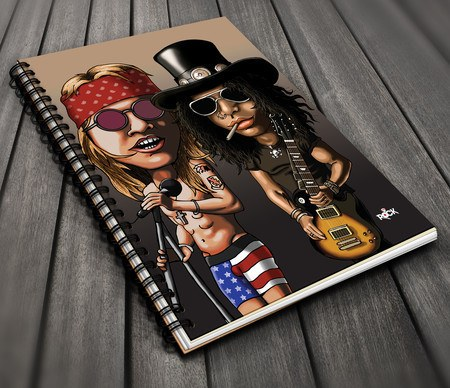 Caderno Exclusivo Mitos do Rock Guns n Roses