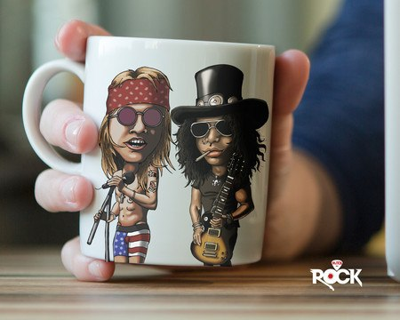Caneca Exclusiva Mitos do Rock Guns n Roses