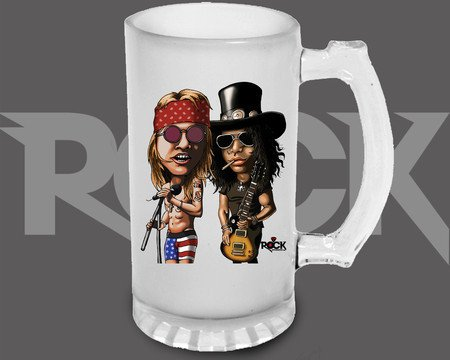 Canecão de Chopp Guns n Roses – Mitos do Rock
