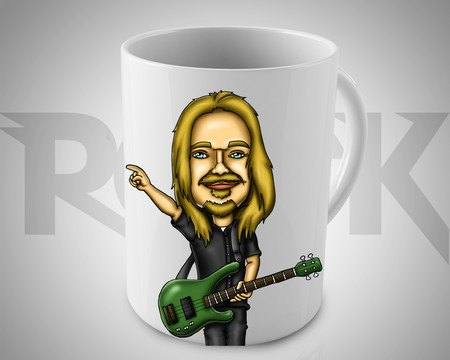 Caneca Exclusiva Mitos do Rock Humberto Gessinger Engenheiros do Hawaii
