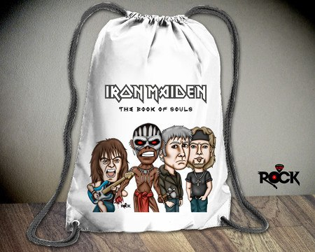 Mochila Saco Mitos do Rock Iron Maiden 2016