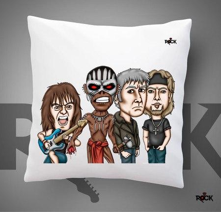 Almofadas com Enchimento Mitos do Rock Iron Maiden
