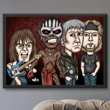 Pôster com Moldura Mitos do Rock Iron Maiden