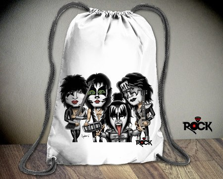 Mochila Saco Mitos do Rock Kiss