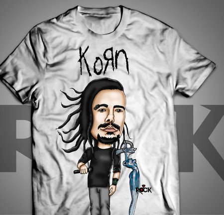 Camiseta Exclusiva Mitos do Rock Korn