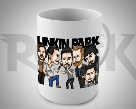Caneca Exclusiva Mitos do Rock Linkin Park