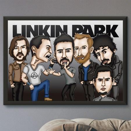 Pôster com Moldura Mitos do Rock Linkin Park