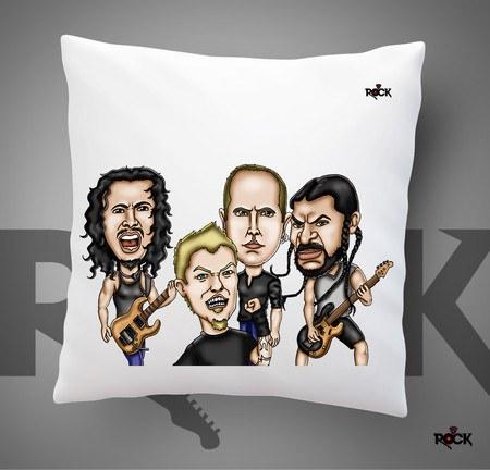 Almofadas com Enchimento Mitos do Rock Metallica
