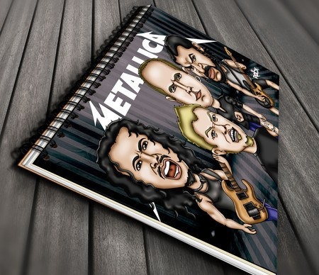 Caderno Exclusivo Mitos do Rock Metallica