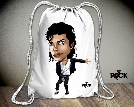 Mochila Saco Mitos do Rock Michael Jackson