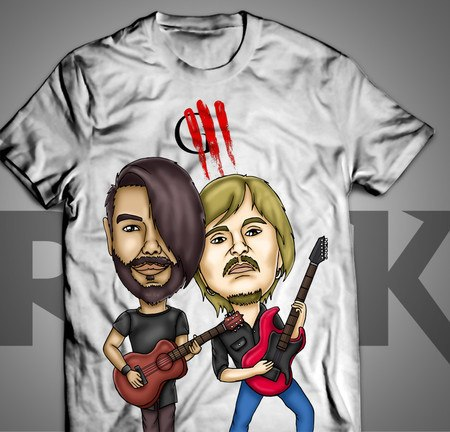 Camiseta Exclusiva Mitos do Rock Oficina G3
