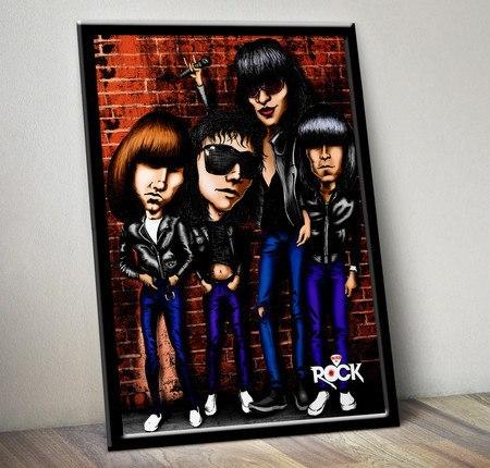 Pôster com Moldura Mitos do Rock Ramones