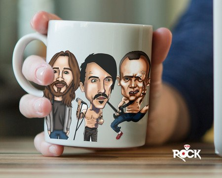 Caneca Exclusiva Mitos do Rock Red Hot Chili Peppers