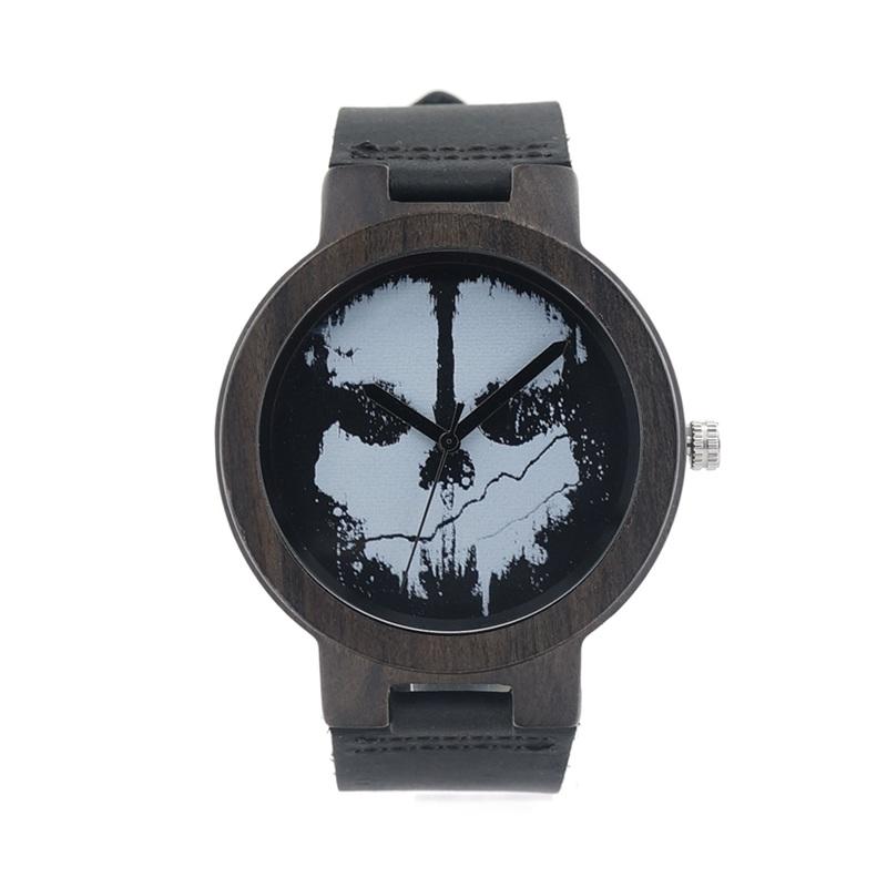 Relógio de Madeira White Skull – SkullAchando