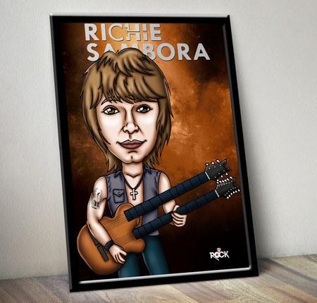 Pôster com Moldura Mitos do Rock Richie Sambora