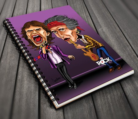 Caderno Exclusivo Mitos do Rock Rolling Stones