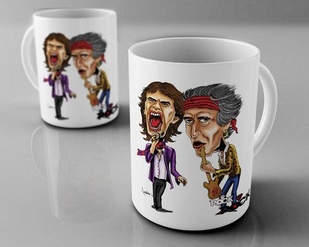 Caneca Exclusiva Mitos do Rock Rolling Stones
