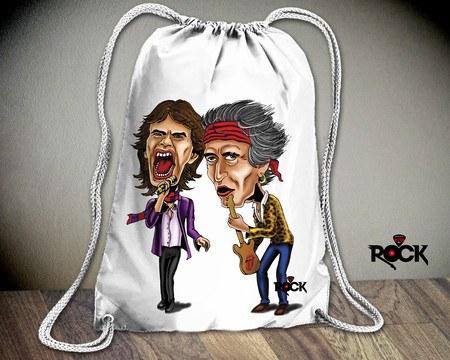 Mochila Saco Mitos do Rock Rolling Stones