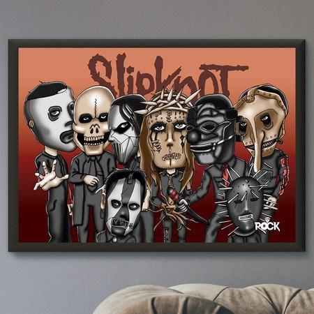 Pôster com Moldura Mitos do Rock Slipknot