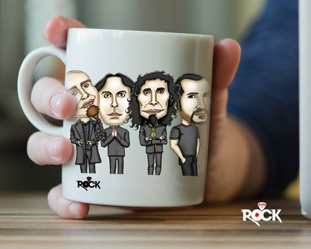 Caneca Exclusiva Mitos do Rock System of a Down