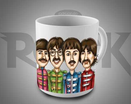 Caneca Exclusiva Mitos do Rock The Beatles II
