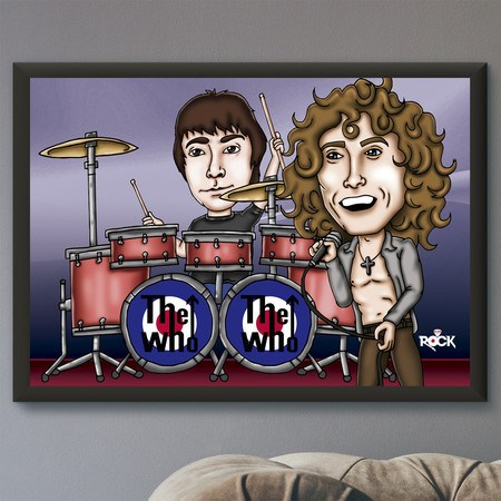 Pôster com Moldura Mitos do Rock The Who