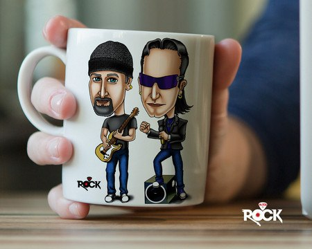 Caneca Exclusiva Mitos do Rock U2