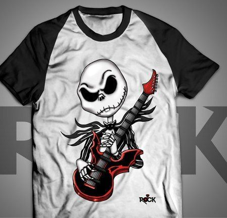 Camiseta Exclusiva Mitos do Rock Jack Skellington