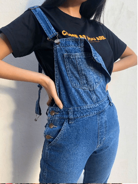 Jardineira Jeans Phoebe - Yaaas