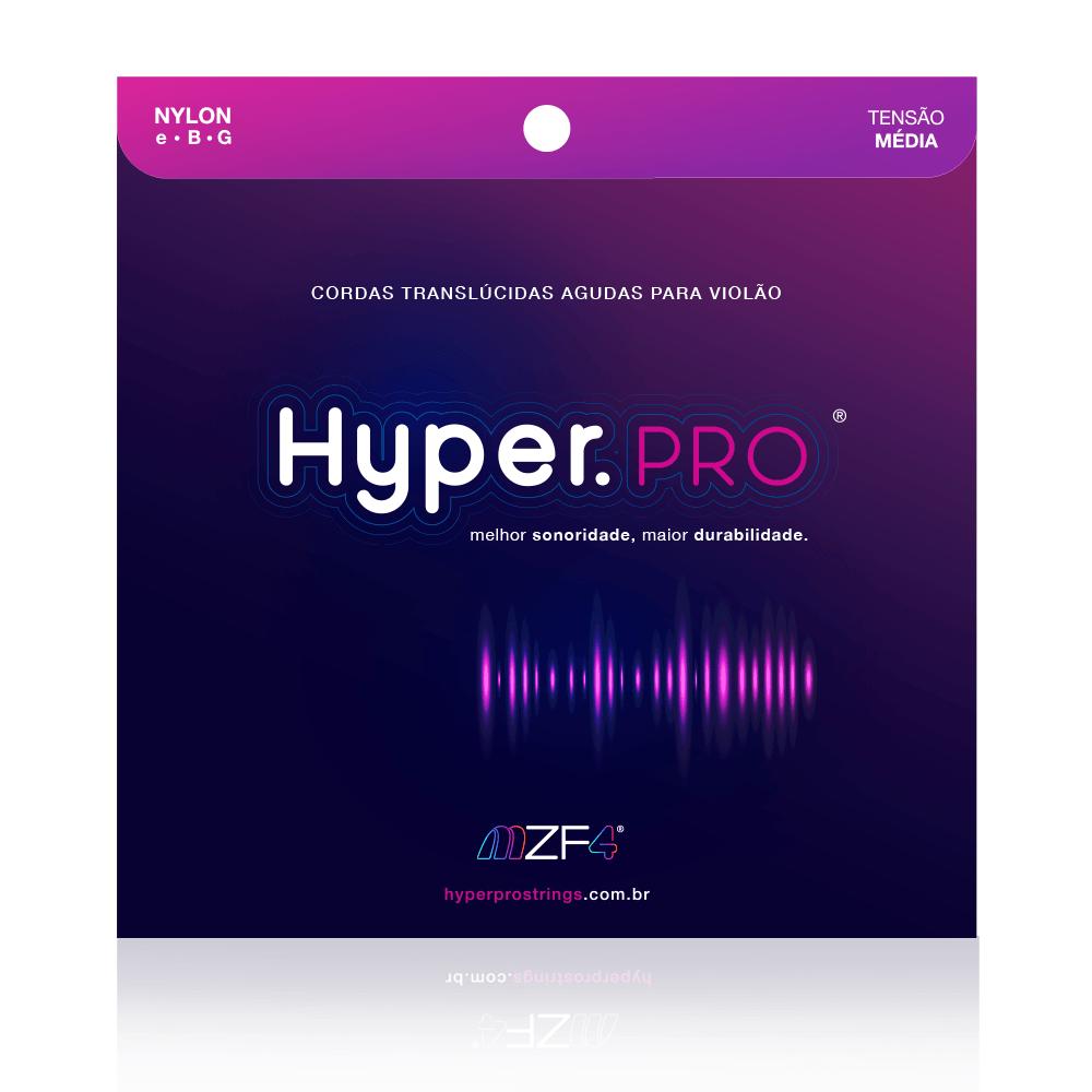 Hyper.PRO - Cordas Agudas para Violão Nylon com Tensão Média