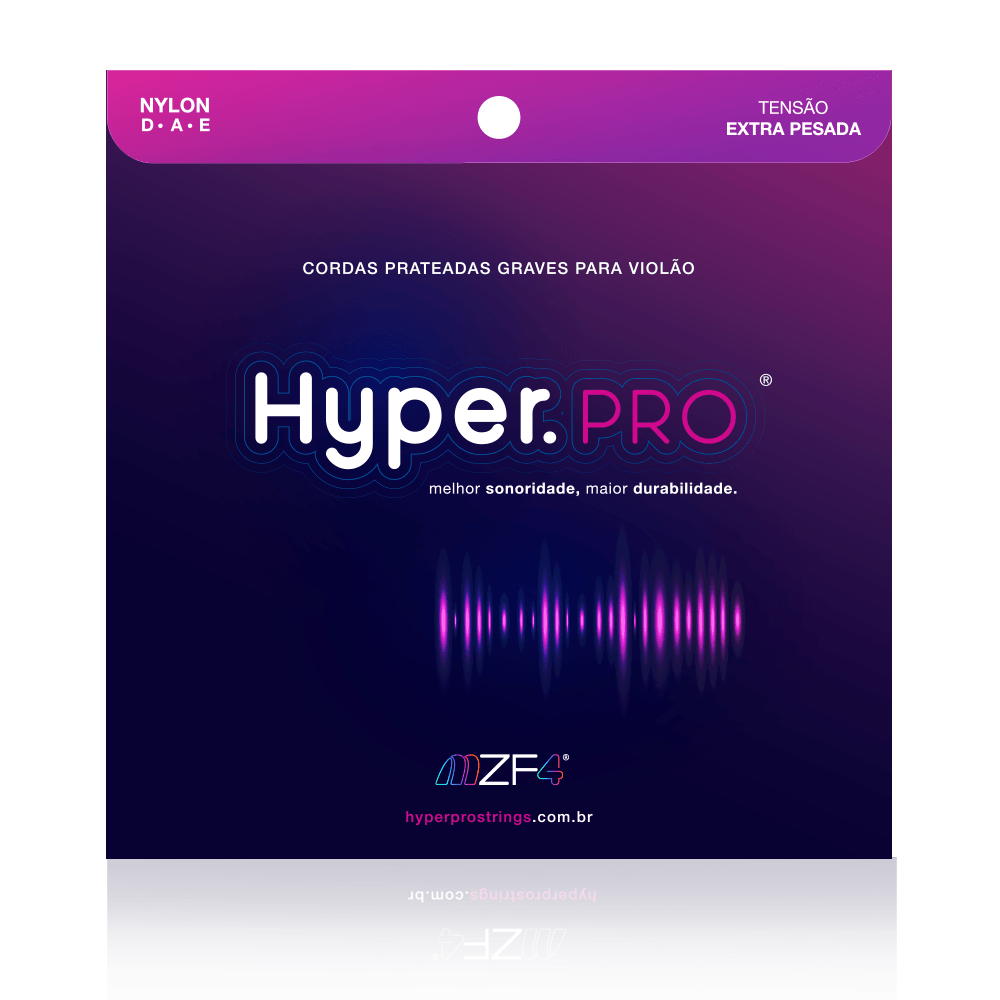 Hyper.PRO - Cordas Graves para Violão Nylon com Tensão Extra-Pesada