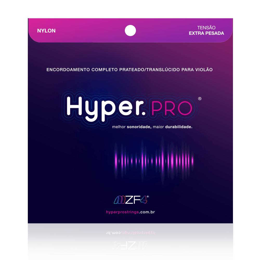 Hyper.PRO 6 Cordas para Violão Nylon com Tensão Extra-Pesada