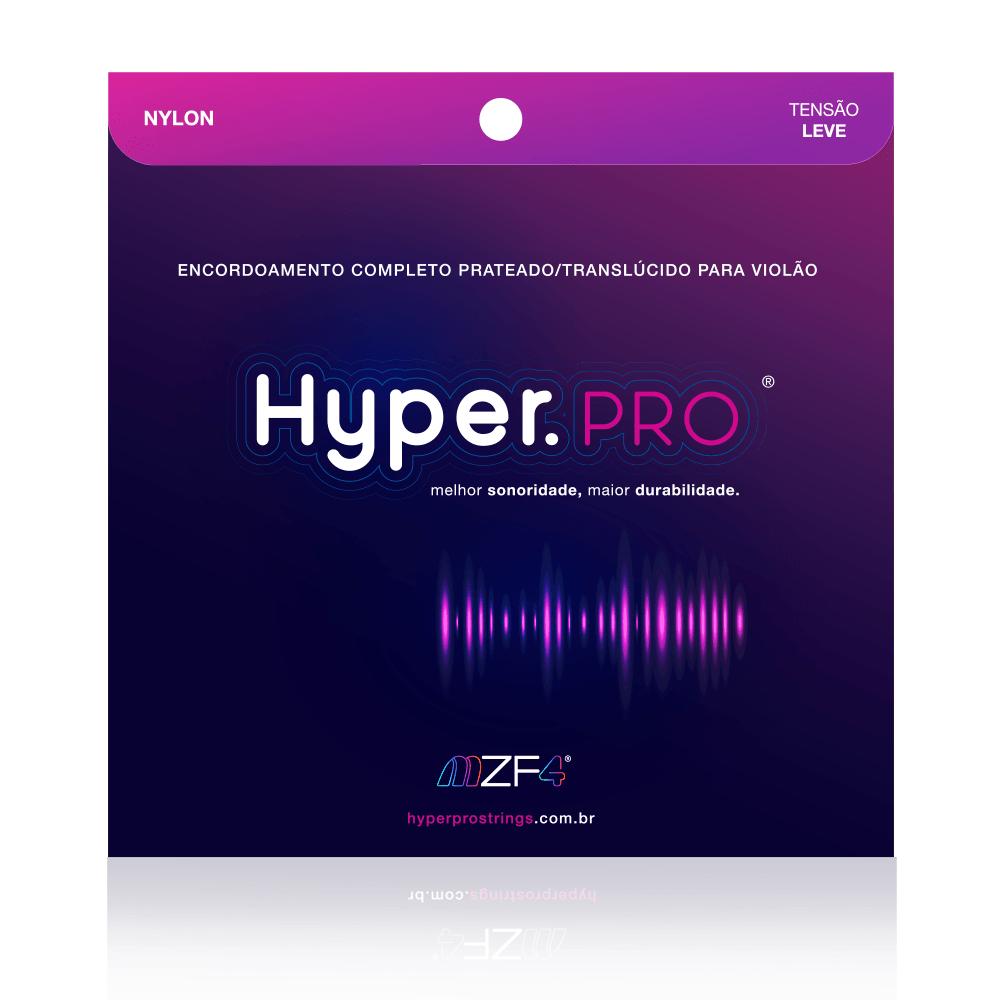 Hyper.PRO 6 Cordas para Violão Nylon com Tensão Leve