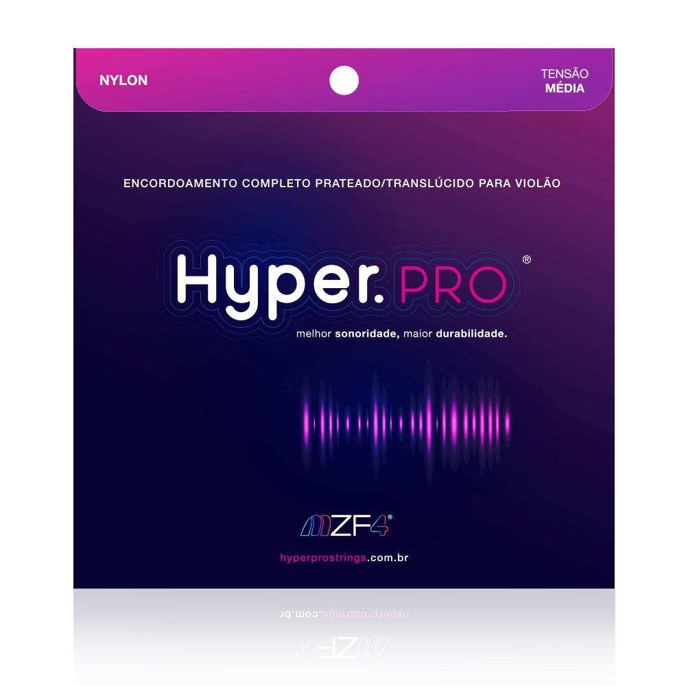 Hyper.PRO 6 Cordas para Violão Nylon com Tensão Média