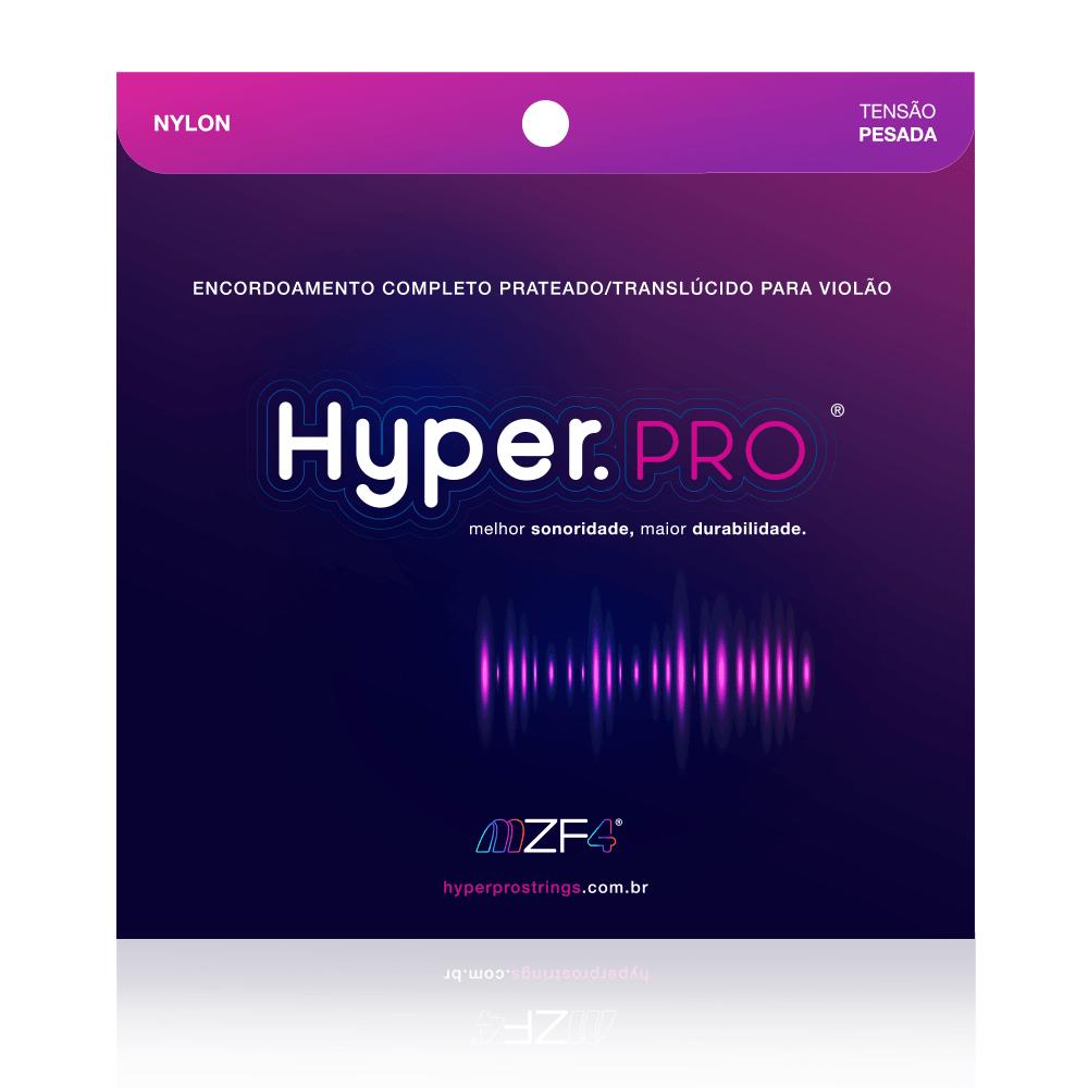 Hyper.PRO 6 Cordas para Violão Nylon com Tensão Pesada