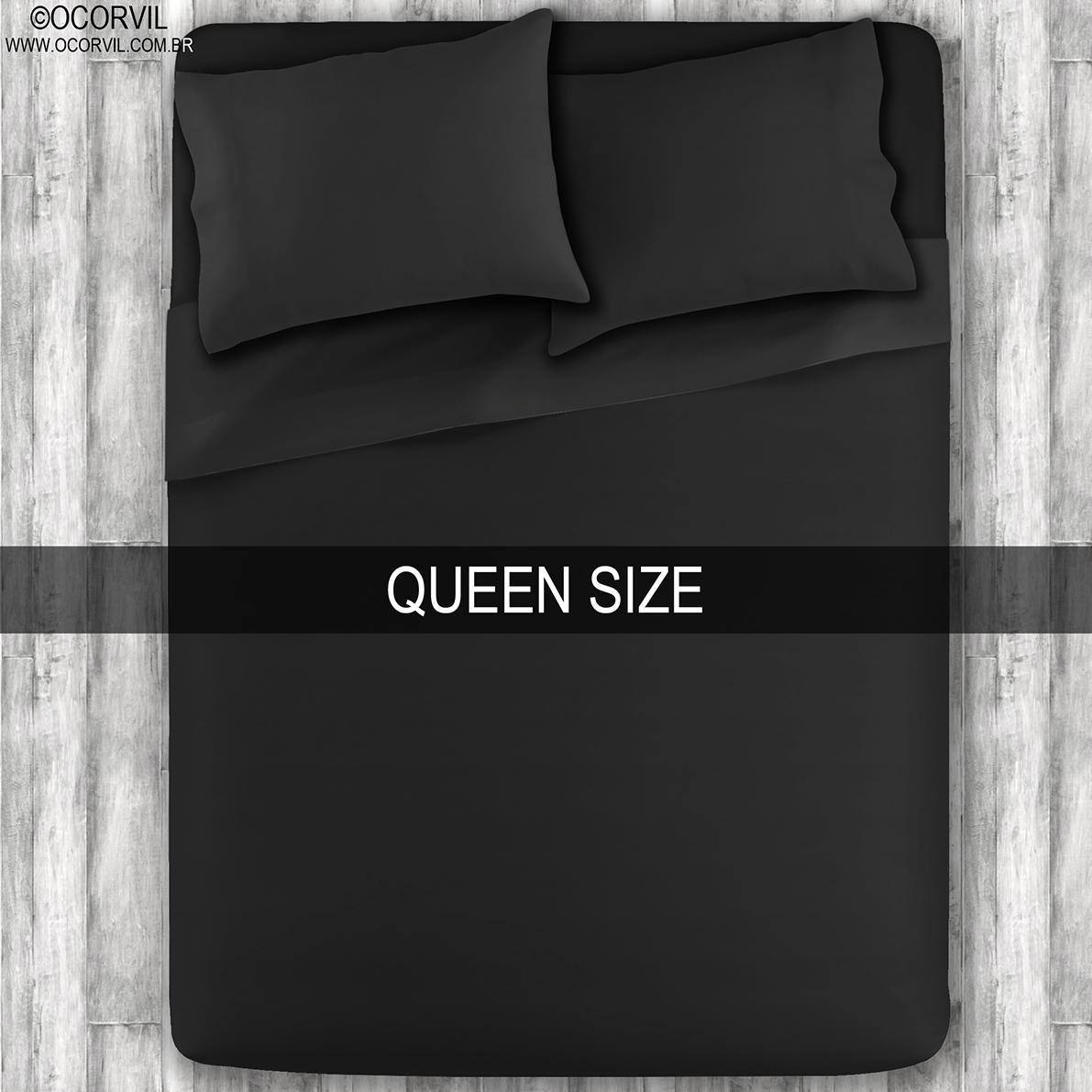 Jogo De Lençol Preto Queen Size