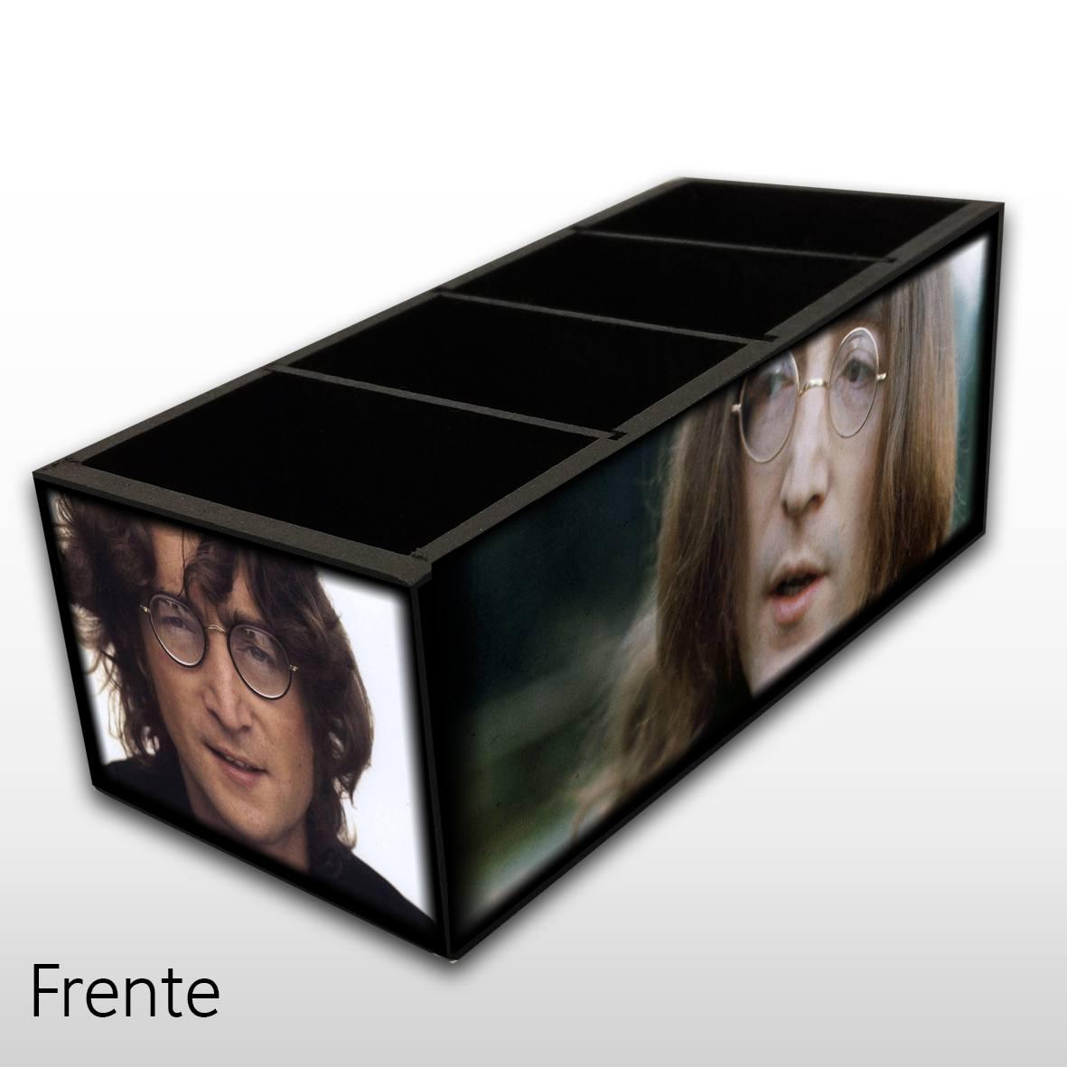 John Lennon - Porta Controles em Madeira MDF - 4 Espaços - Mr. Rock