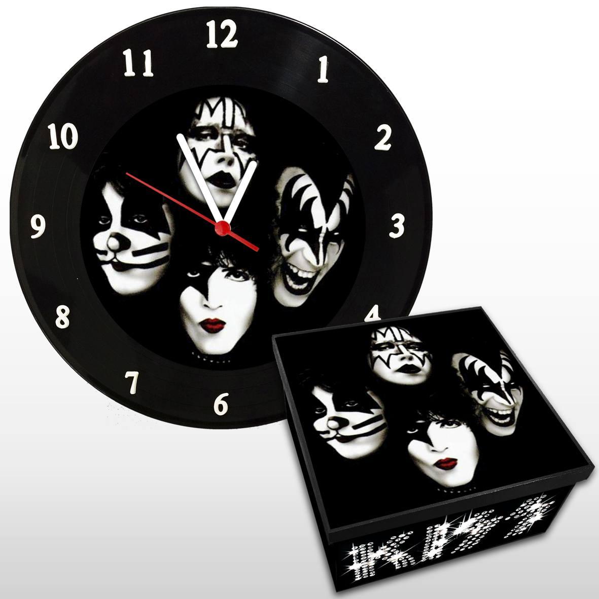 Kiss - Kit Com Relógio De Parede + Caixa Mdf