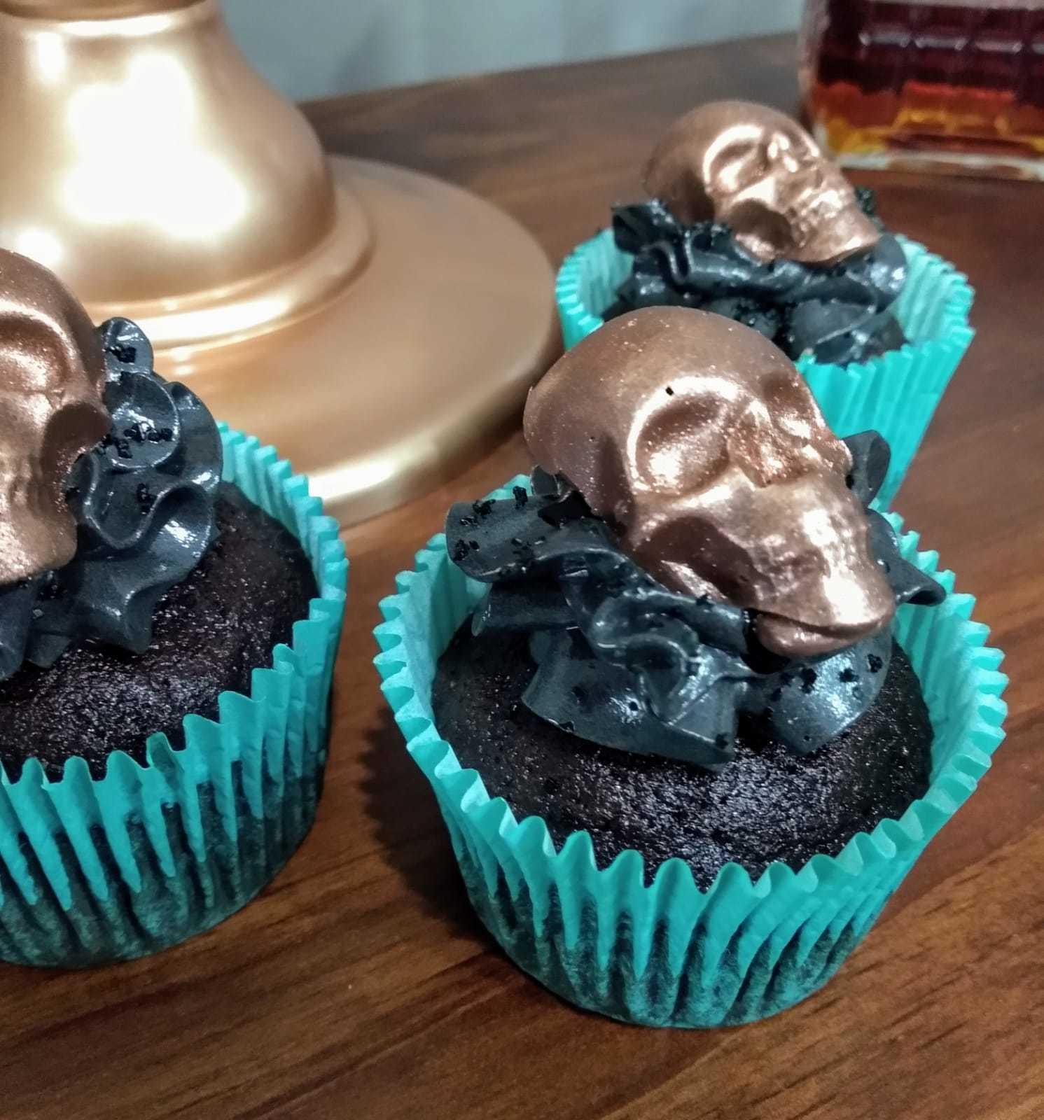 Kit com 6 Unidades Cupcakes Caveira - Doces Fratta